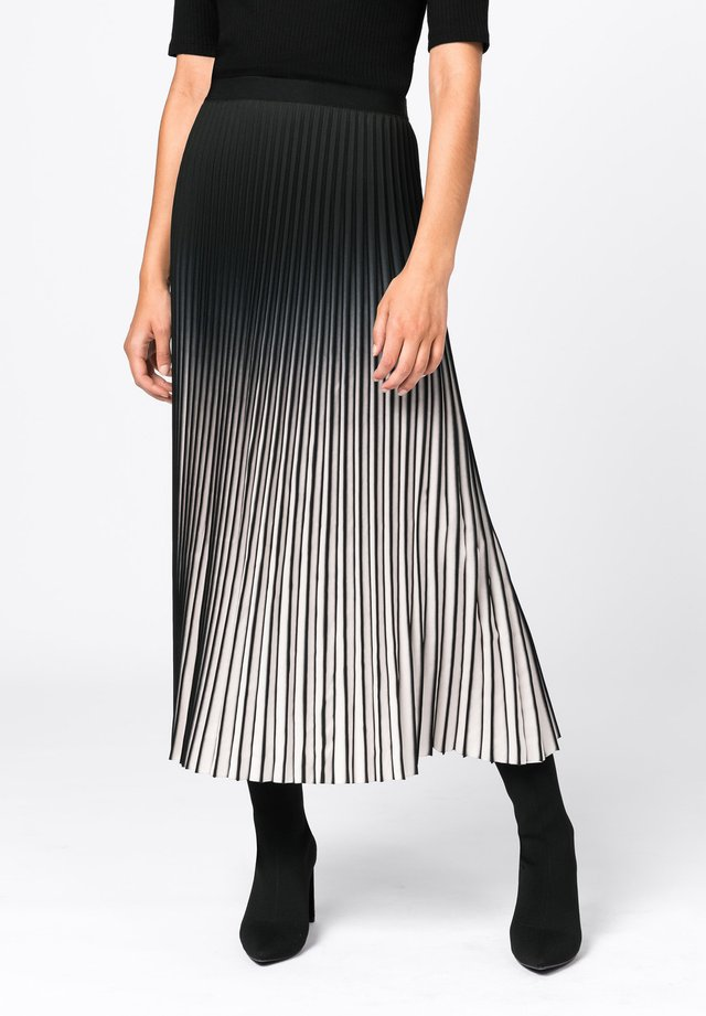 MIT FARBVERLAUF - Jupe plissée - creme