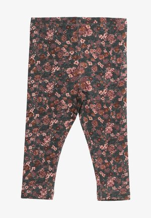 Leggings - Trousers - petroleum flowers