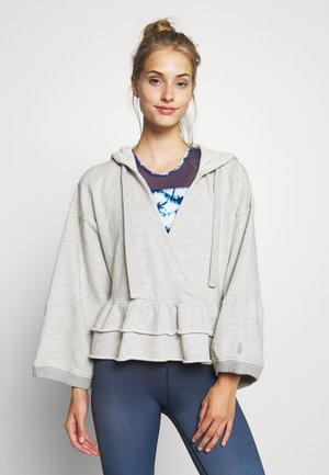 SIDE SWEPT HOODIE - Sweat à capuche - grey