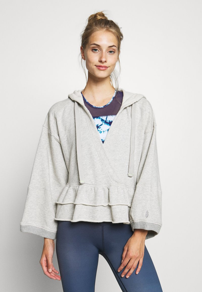 Free People - SIDE SWEPT HOODIE - Hoodie - grey