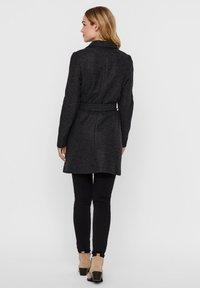 Vero Moda - VMBRUSHEDDORA JACKET - Klassinen takki - dark grey melange - 2
