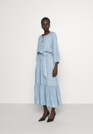 VAETELL-LONG SLEEVE-DAY DRESS - Maxi dress - indigo mist wash