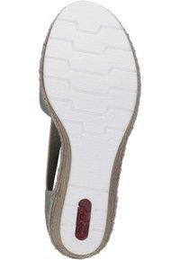 Rieker - Wedge sandals - mint - 3