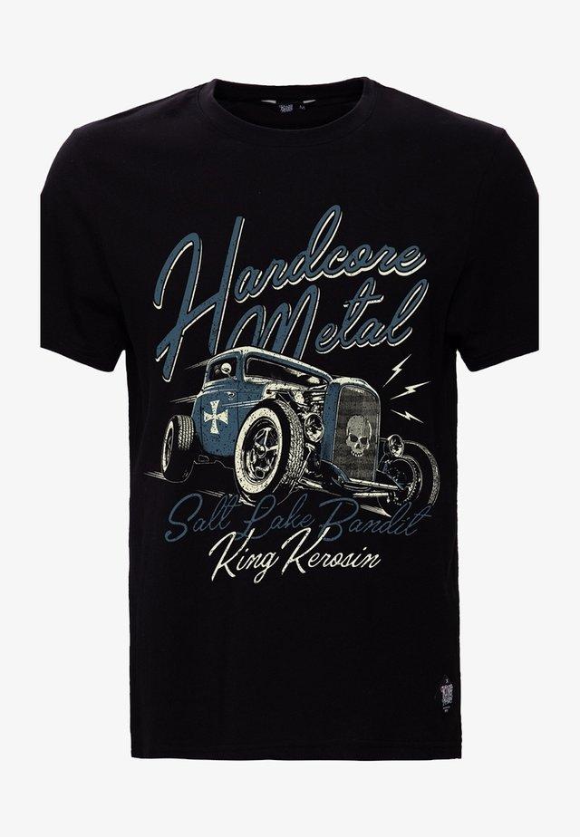 MIT RETRO DRUCK HARDCORE METAL - T-shirt print - schwarz