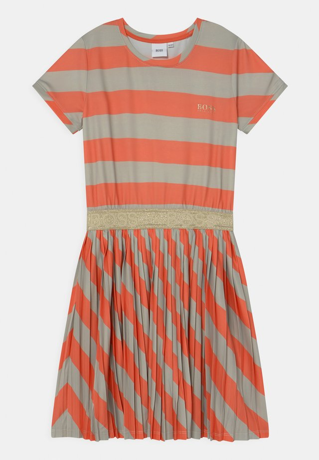 Jersey dress - coral