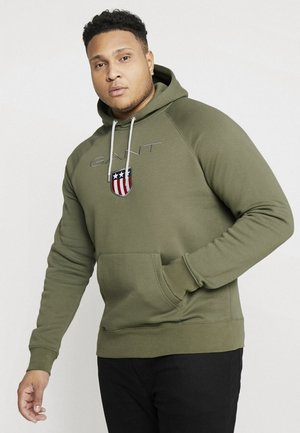 PLUS SHIELD HOODIE - Hoodie - field green