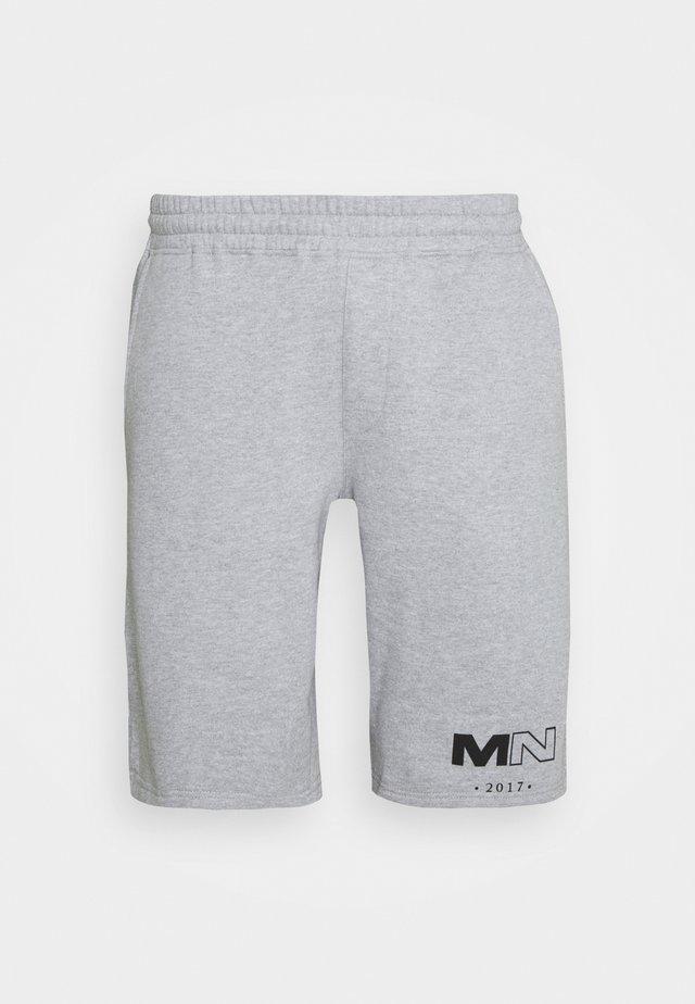 CLUB DRAWCORD - Tracksuit bottoms - grey marl