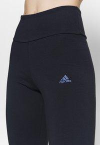 adidas Performance - Legginsy - dark blue - 4