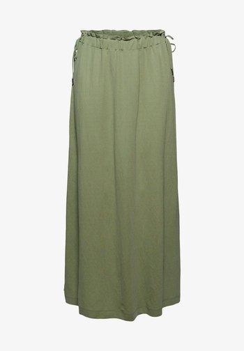 DRAW - Maxi skirt - light khaki