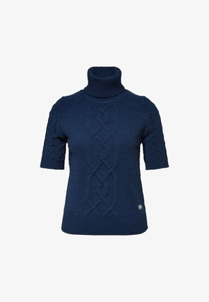 CABLE TURTLE HALF SLEEVE - Pullover - sartho blue