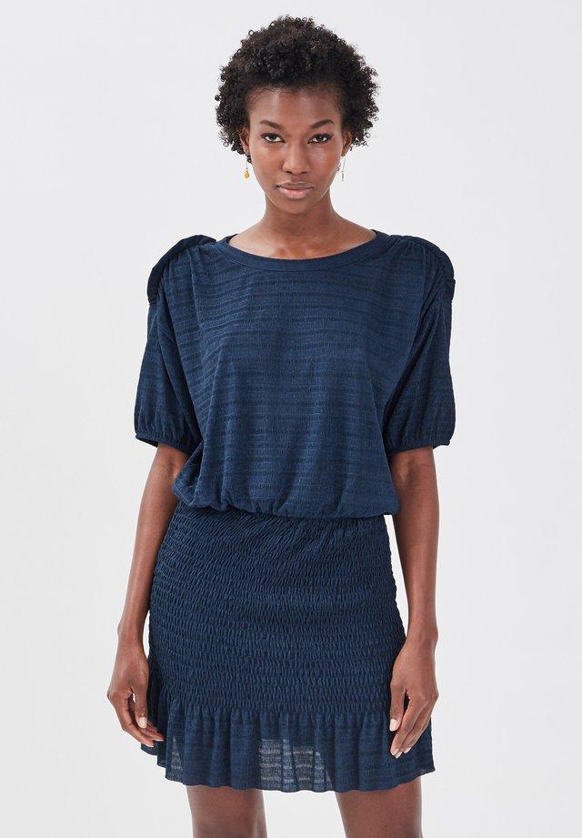 Gebreide jurk - bleu marine