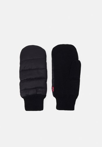 PUFFER MITTEN GLOVES UNISEX - Rękawiczki z jednym palcem - regular black