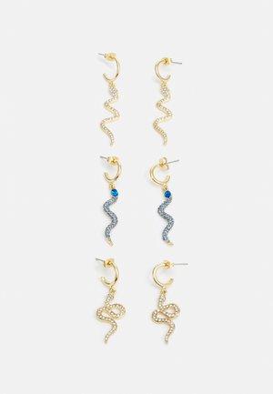 PCLABIKA EARRINGS 3 PACK - Earrings - gold-coloured/multi