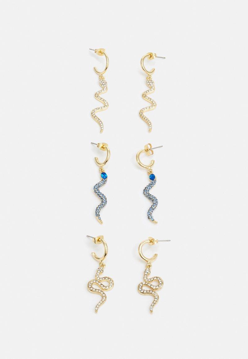 Pieces - PCLABIKA EARRINGS 3 PACK - Boucles d'oreilles - gold-coloured/multi