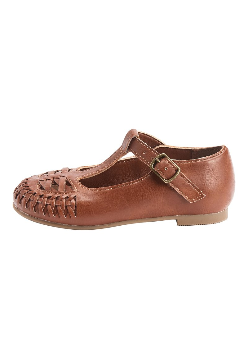 Next - WHITE WOVEN T-BAR SHOES (YOUNGER) - Baby shoes - brown