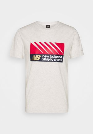 ATHLETICS VILLAGE TEE - Print T-shirt - mottled grey