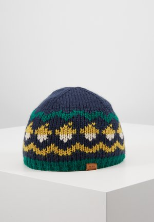 MINI BOYS BEANIE - Muts - navy/curry