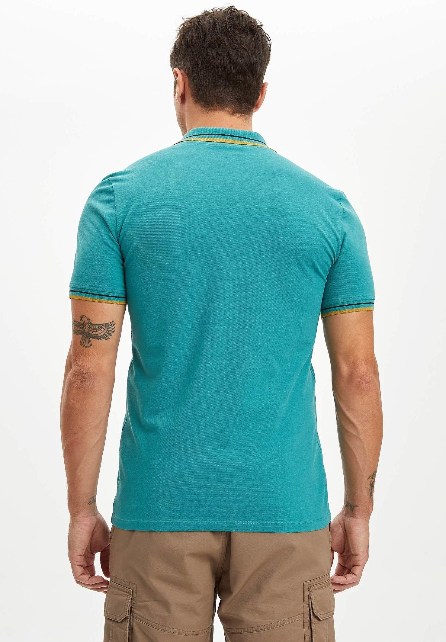 DeFacto Polo shirt - green 77mhN