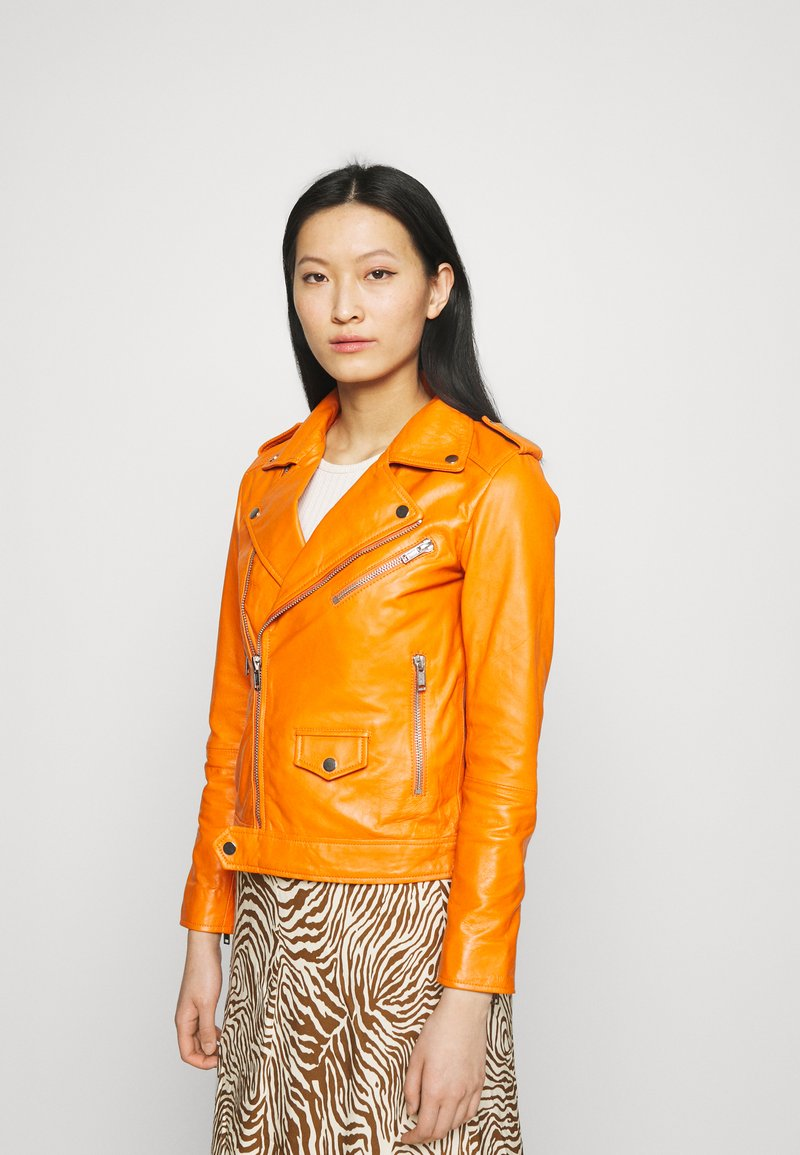 Deadwood - RIVER - Leather jacket - persimmon