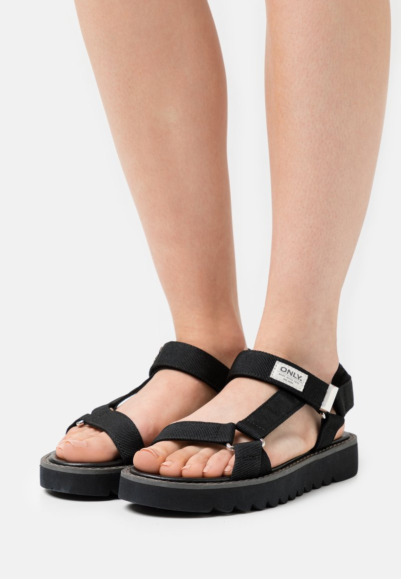 ONLY SHOES - ONLMALU CHUNKY WRAP  - Sandály - black