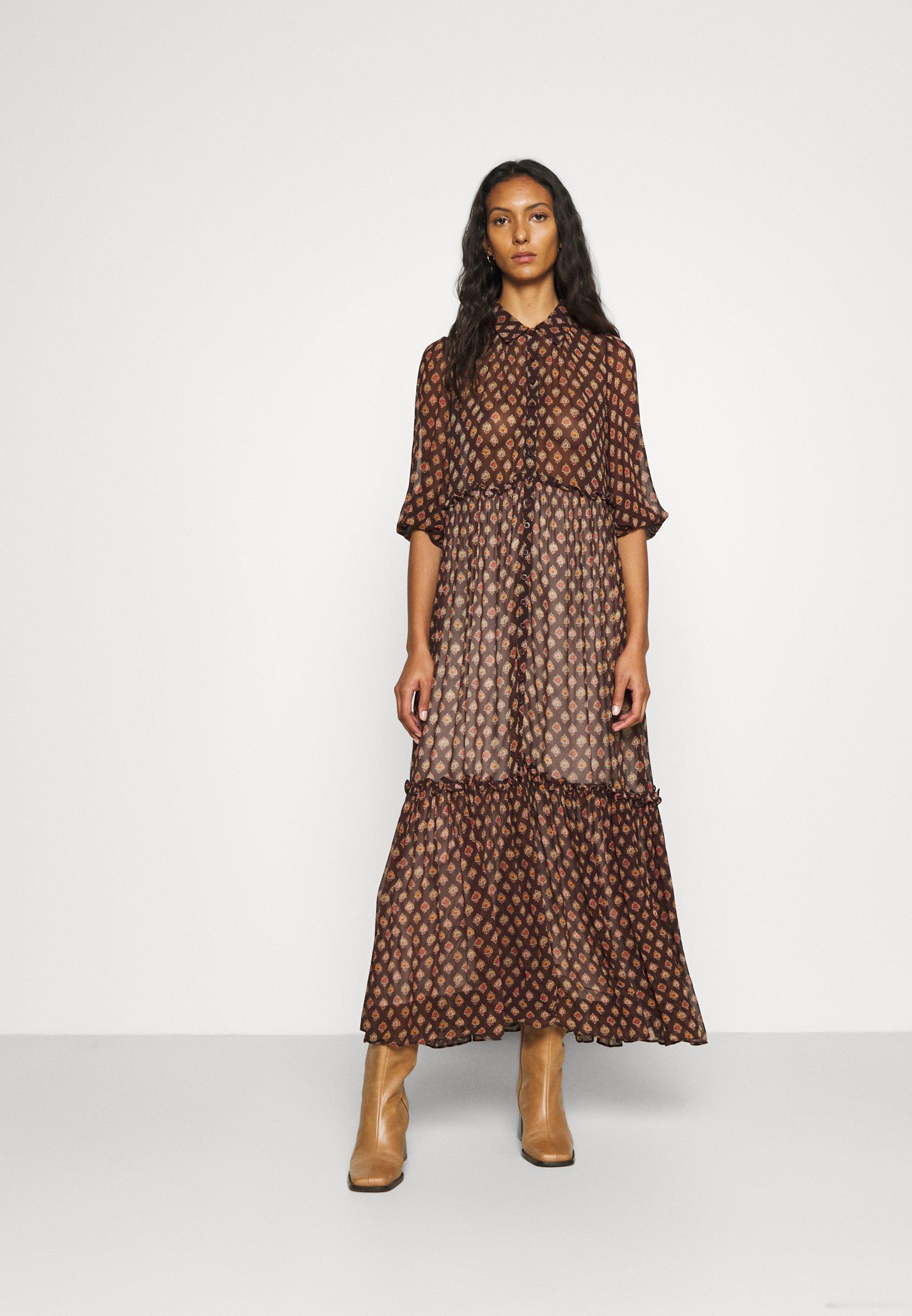 Donna GEORGETTE SHIRT DRESS - Vestito lungo