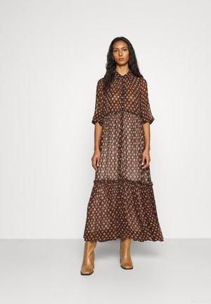 GEORGETTE SHIRT DRESS - Maxi dress - brown
