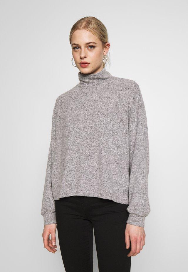 BRUSHED BOXY - Sweter - light grey
