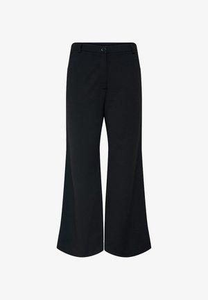 GISELLE WIDE PANTS - Pantalones - black