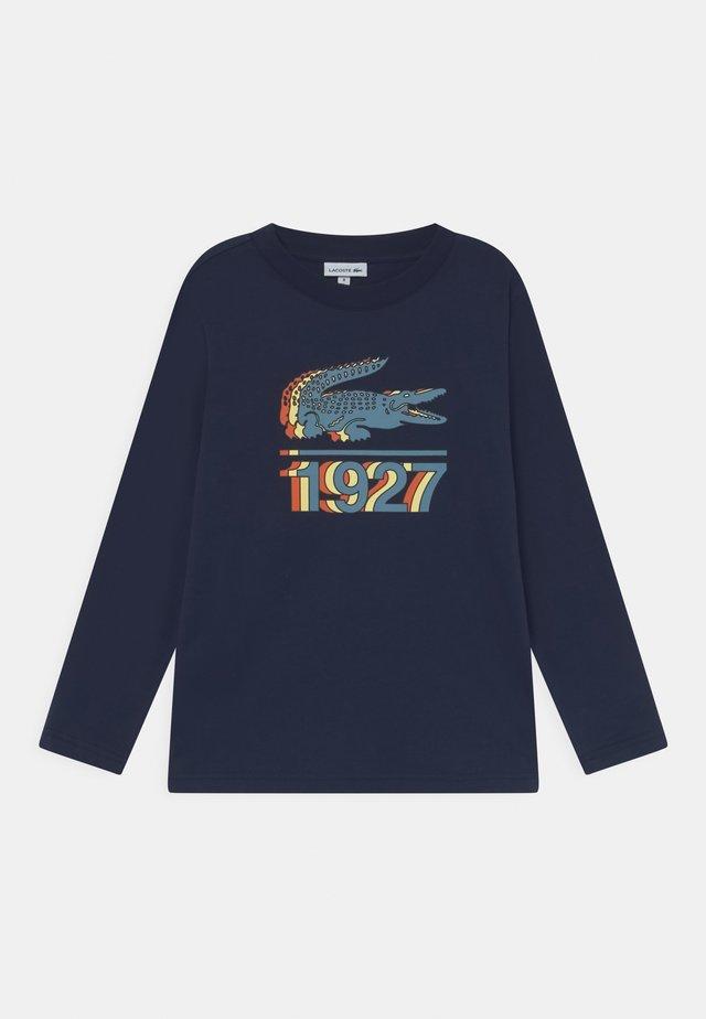 TEE TURTLE NECK - Pitkähihainen paita - marine/multi-coloured