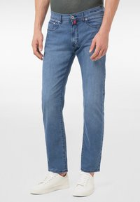 Pierre Cardin - Straight leg jeans - mid blue washed - 0