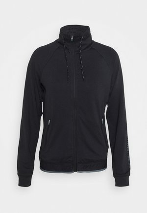 ONPANVI HIGHNECK ZIP - Zip-up hoodie - black/goblin blue
