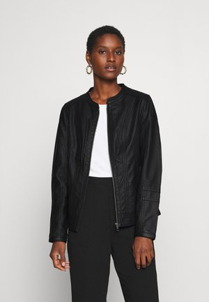 SC-AMALIE 4 - Faux leather jacket - black