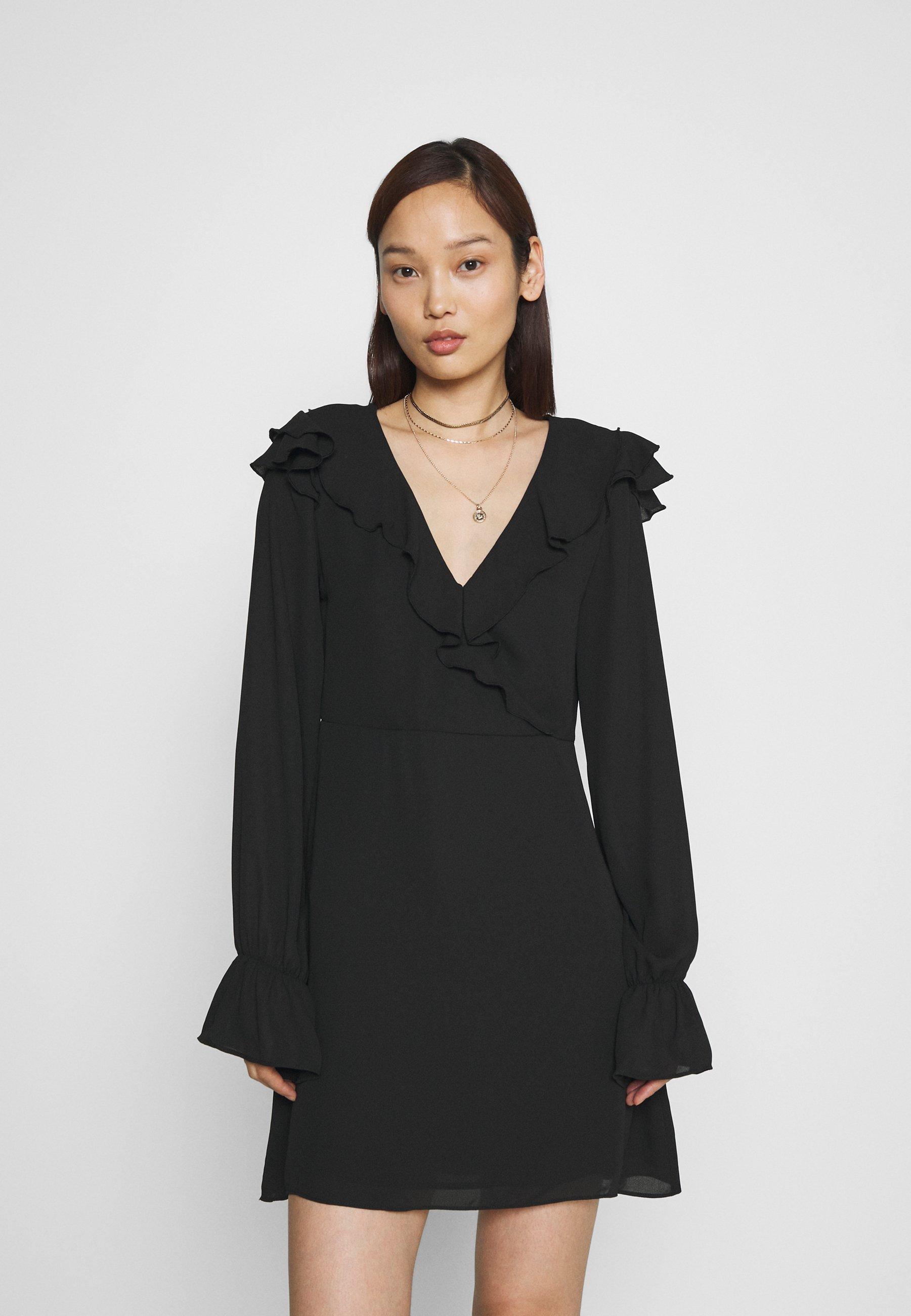 Women WRAPPED FRILL DRESS - Day dress