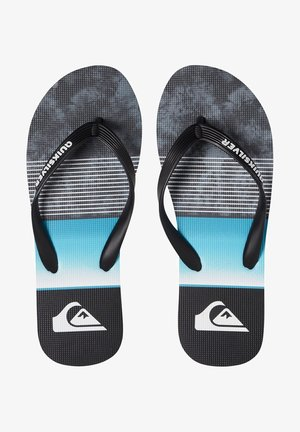 Slippers - black blue grey