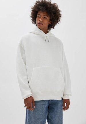 BASIC  - Felpa con cappuccio - white