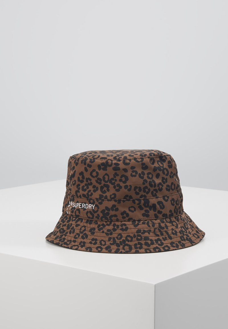 Superdry - REVERSIBLE BUCKET HAT - Hatt - black