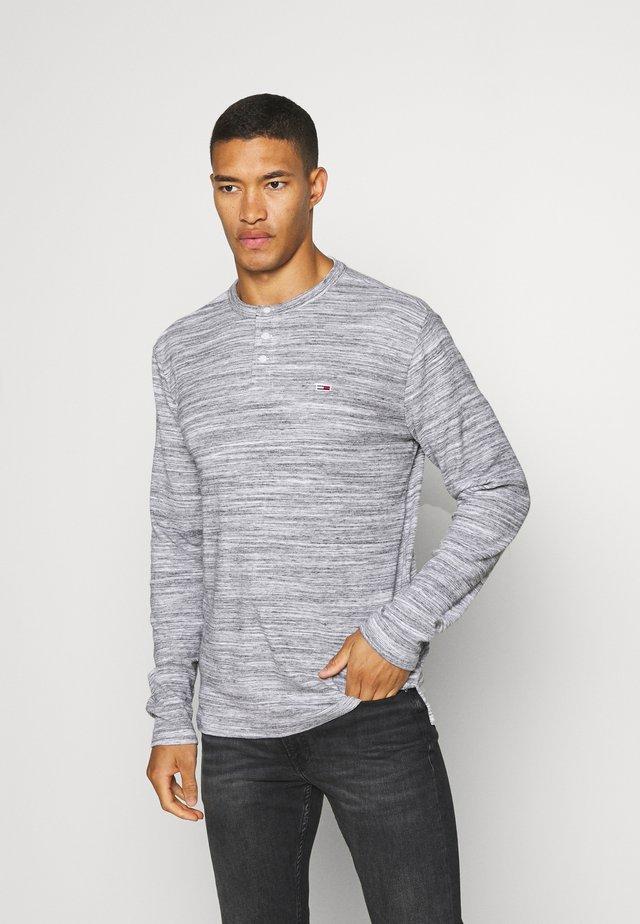 LONGSLEEVE TEXTURE TEE - Long sleeved top - light grey heather