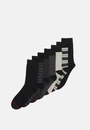 JACKIMO SOCK 7 PACK - Socks - dark grey melange/black