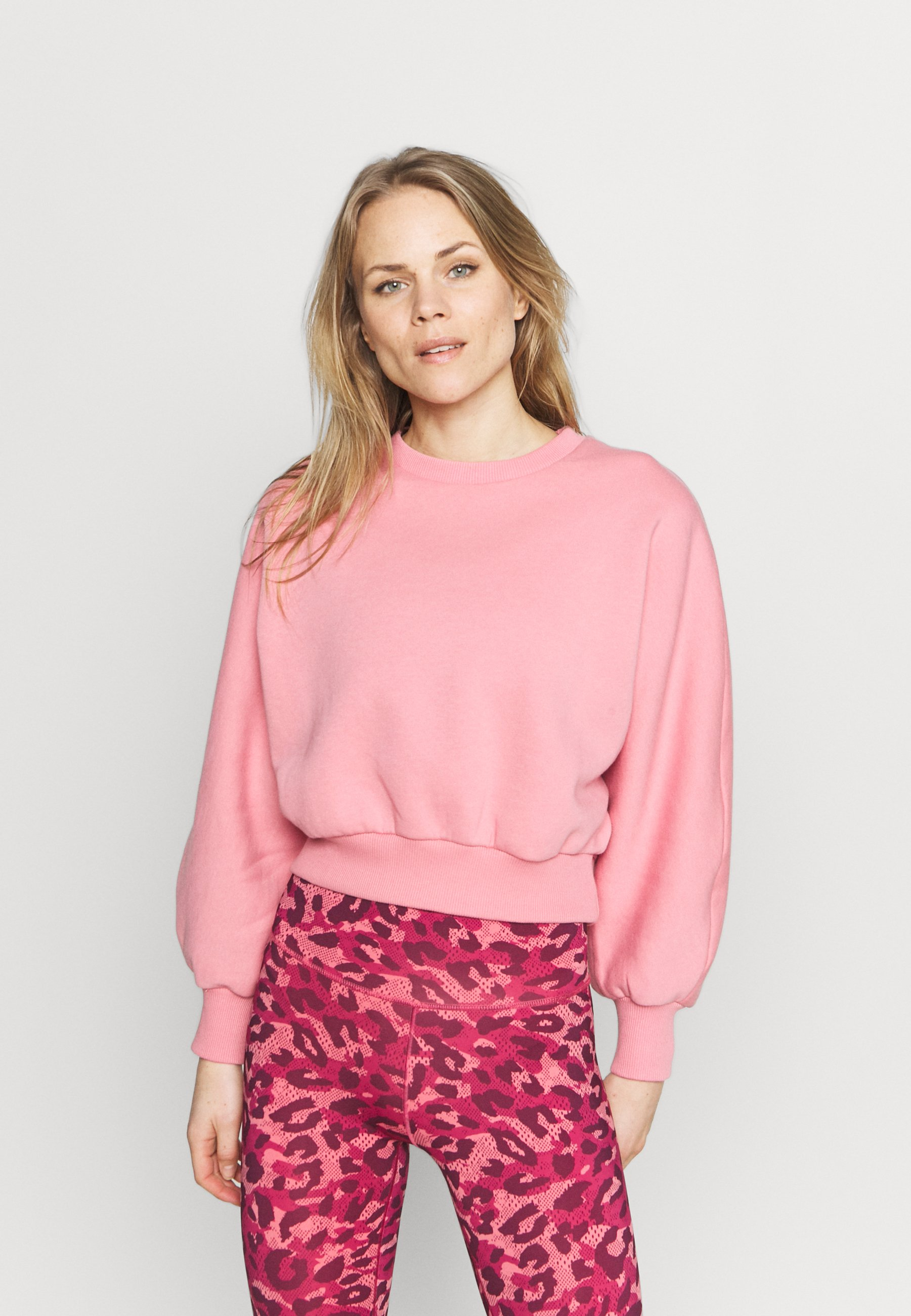 Women RECYCLED BALLOON SLEEVE CROPPED  - Sweatshirt