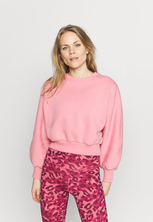 RECYCLED BALLOON SLEEVE CROPPED  - Mikina - pink