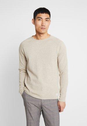 JJEHILL - Stickad tröja - oatmeal melange