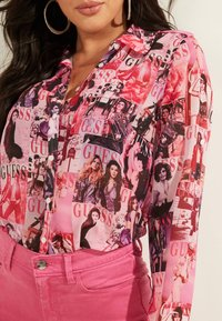 Guess - Button-down blouse - mehrfarbe rose - 3