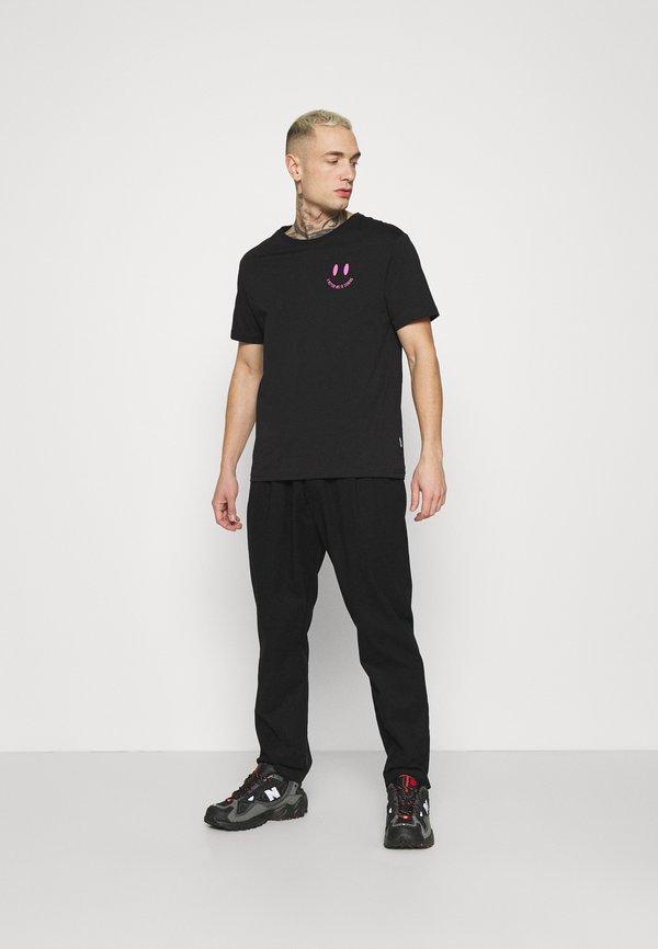 YOURTURN T-shirt z nadrukiem - black/czarny Odzież Męska QODO