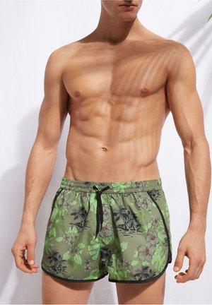 VENICE - Swimming shorts - c - palm tree vintage green