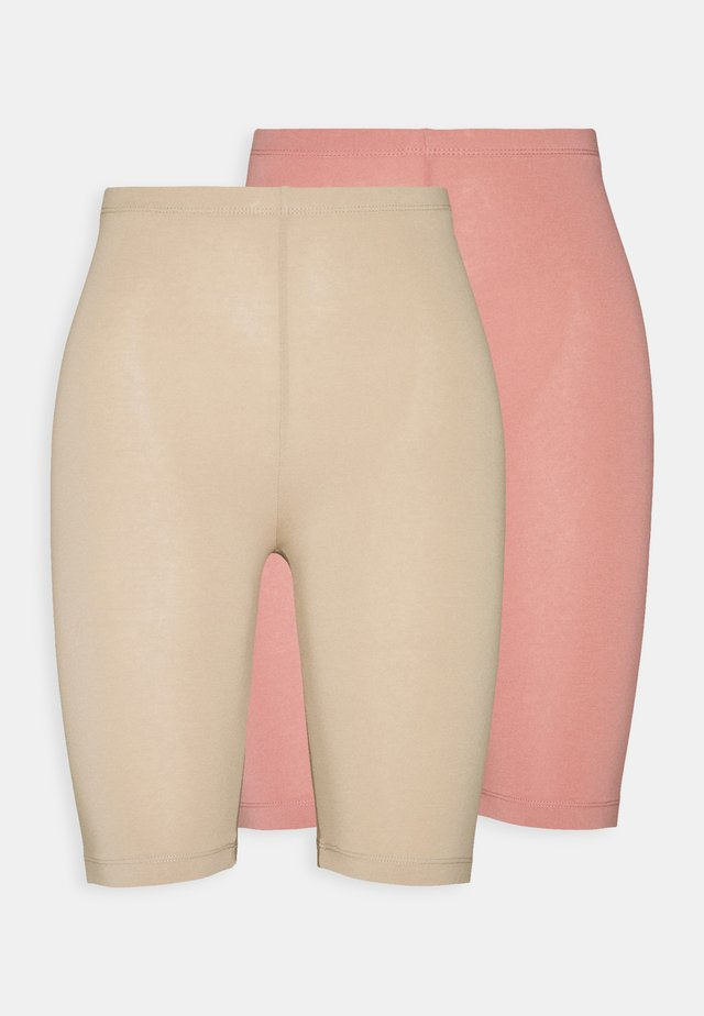 ONLLIVE LOVE CITY 2 PACK - Shorts - ash rose/humus