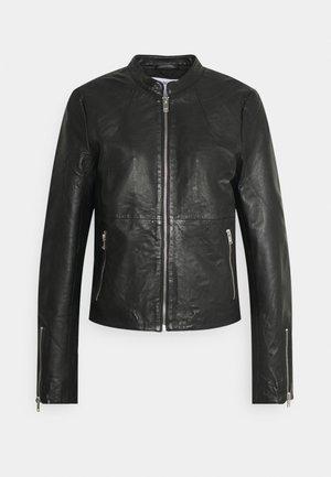 SLFIBI JACKET - Leather jacket - black