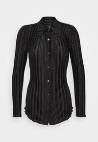 Who What Wear - PLISSE - Button-down blouse - black - 5