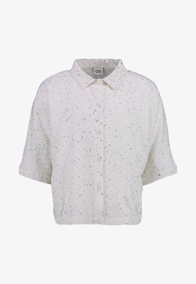 DENVER - Button-down blouse - silver