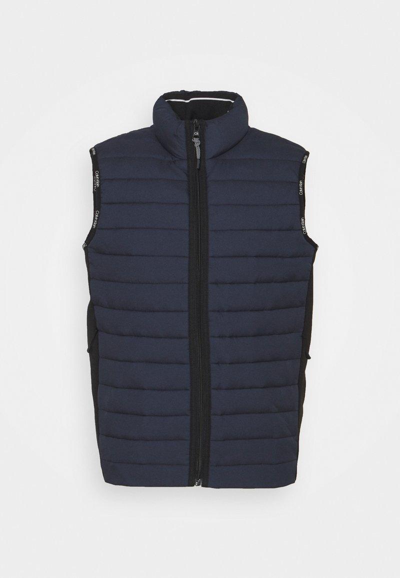 Calvin Klein - CRINKLE VEST - Waistcoat - blue