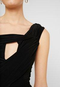 Club L London - DRAPE WRAP BODYSUIT - Print T-shirt - black - 5
